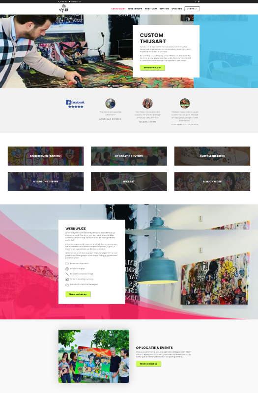 Scoob website software voorbeeld - Thijs Art