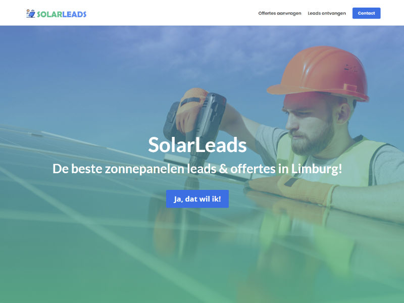 Scoob website laten maken - voorbeeld - SolarLeads Limburg